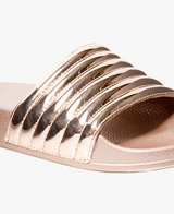 Port Rose Gold Women's Slider Sandals