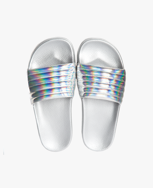 Slydes - Port Silver Iridescent Women's Slider Sandals - The Worlds Best Sliders & Sandals