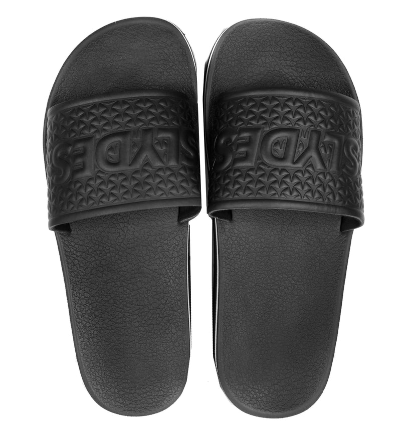 Slydes - Racer Women's Black/White Sliders - The Worlds Best Sliders & Sandals
