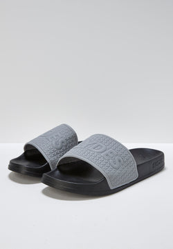 Bolt Men's Reflective Grey and Black Sliders