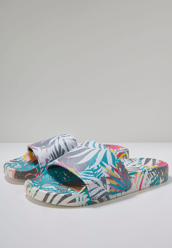 Slydes - Cyber Light Women's Multi Print Sliders - The Worlds Best Sliders & Sandals