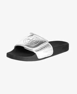 Shard Religion X Slydes Silver Slider Sandals - Slydes