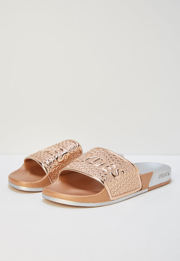 Slydes - Split Women's Rose Gold/Silver Sliders - The Worlds Best Sliders & Sandals