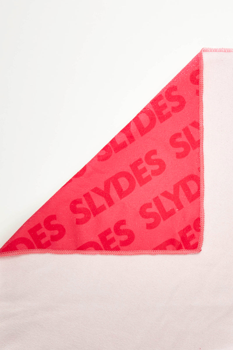 Slydes - Chance Neon Pink Convertible Beach Towel and Tote Bag - The Worlds Best Sliders & Sandals