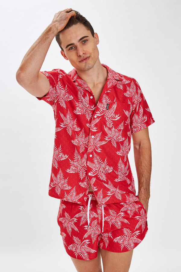Slydes - Delano Mens Noise Print Beach Shirt - The Worlds Best Sliders & Sandals