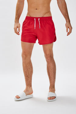Slydes - Mandalay Mens Red Swim Shorts - The Worlds Best Sliders & Sandals