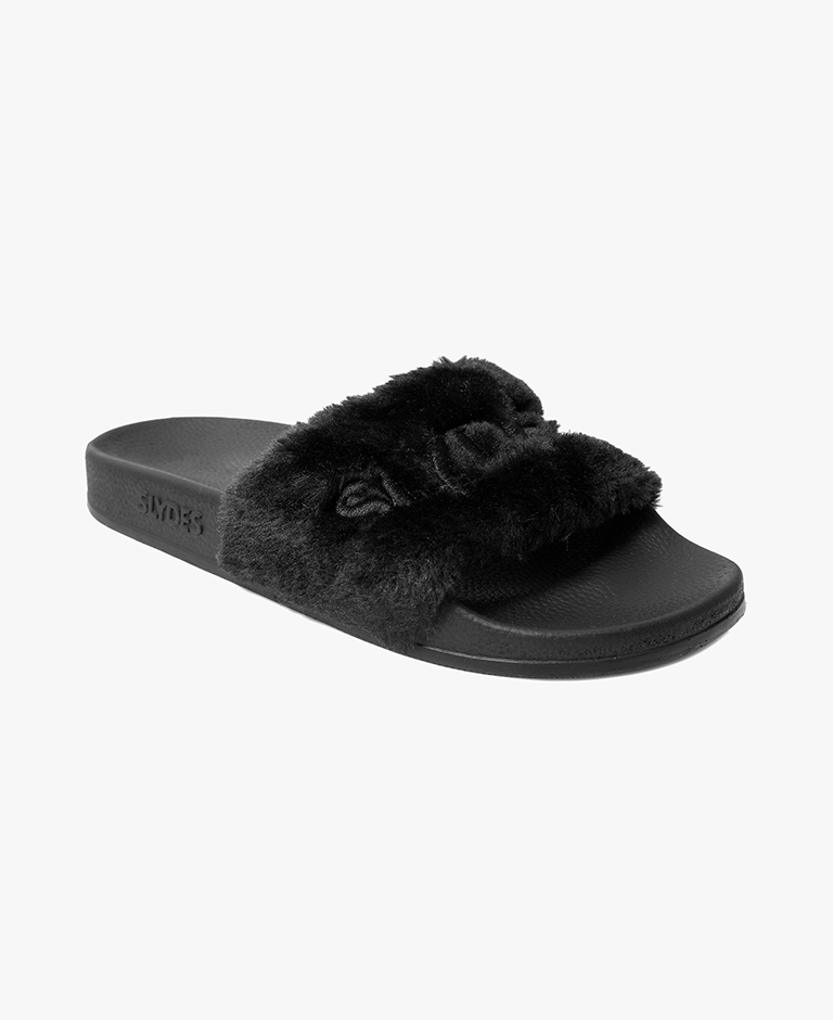 Slydes - Sasha Black Women's Slider Sandals - The Worlds Best Sliders & Sandals