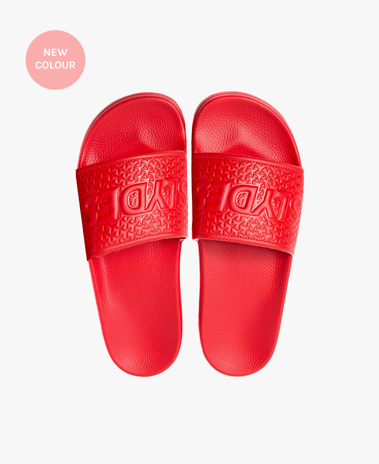 Slydes - Cali Red Men's Slider Sandals - The Worlds Best Sliders & Sandals