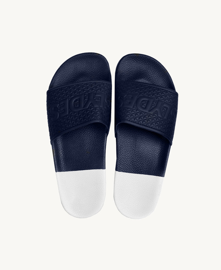 Slydes - Split Women's Navy/White Sliders - The Worlds Best Sliders & Sandals