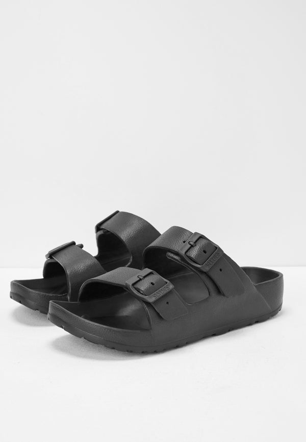 Slydes - Watson Women's Black Sliders - The Worlds Best Sliders & Sandals