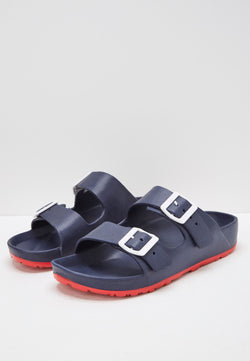 Slydes - Watson Men's Navy/Red Sliders - The Worlds Best Sliders & Sandals