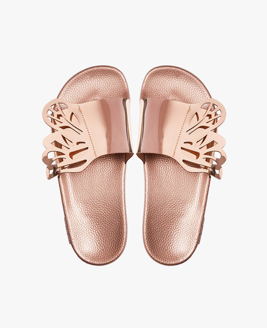 Slydes - Wings Rose Gold Women's Slider Sandals - The Worlds Best Sliders & Sandals