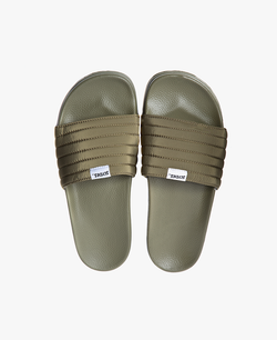 Slydes - West Khaki Men's Slider Sandals - The Worlds Best Sliders & Sandals