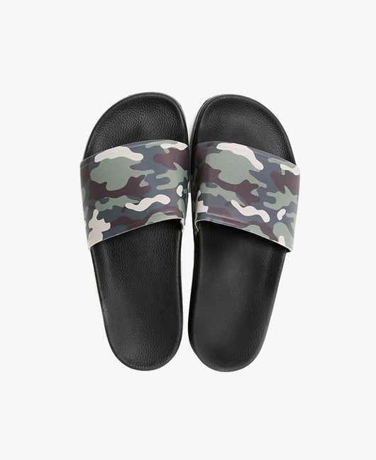 Slydes - Caye Camo Black Sliders - The Worlds Best Sandals