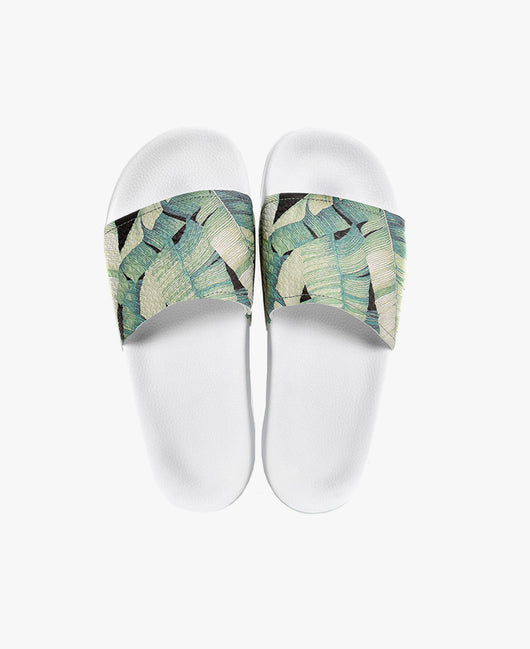 Slydes - Palm White Sliders - The Worlds Best Sandals