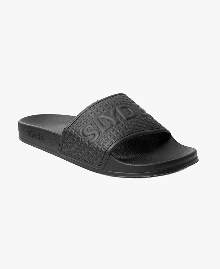 Slydes - Cali Black Men's Slider Sandals - The Worlds Best Sliders & Sandals