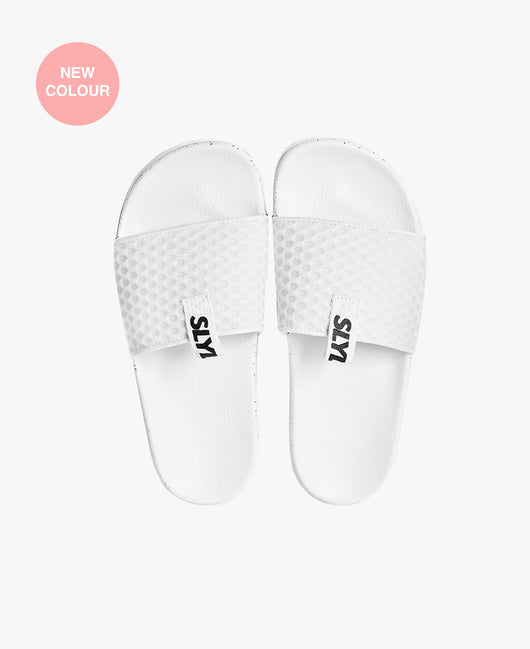 Slydes - Cruz Mesh White Women's Slider Sandals - The Worlds Best Sliders & Sandals