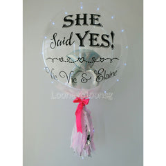 Pastel Pink with Diamond foil insert and Day white light