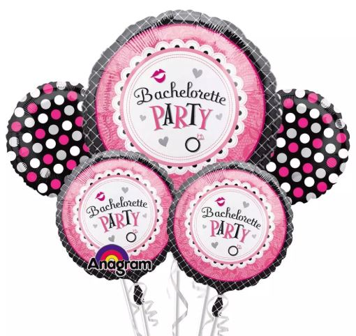 Bachelorette Party Foil balloon bouquet