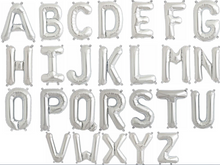 "14"" Foil Alphabet Balloon (Air Filled)"