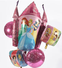 Foil balloon bouquet (Disney Princess)