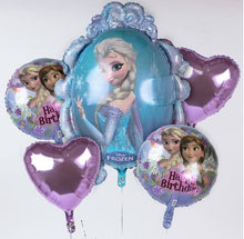 Happy Birthday Foil balloon bouquet (Disney Frozen)