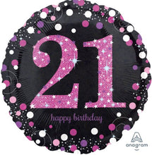 "18""  Dazzling Happy Birthday Round Foil (21)"