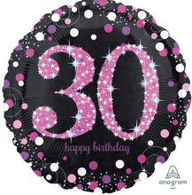 "18""  Dazzling Happy Birthday Round Foil (30)"