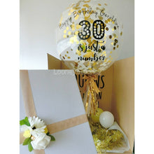 "Surprise Box with 24"" Customised balloon(Confetti filled)"