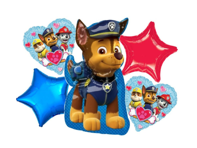Foil balloon bouquet (Paw Patrol)