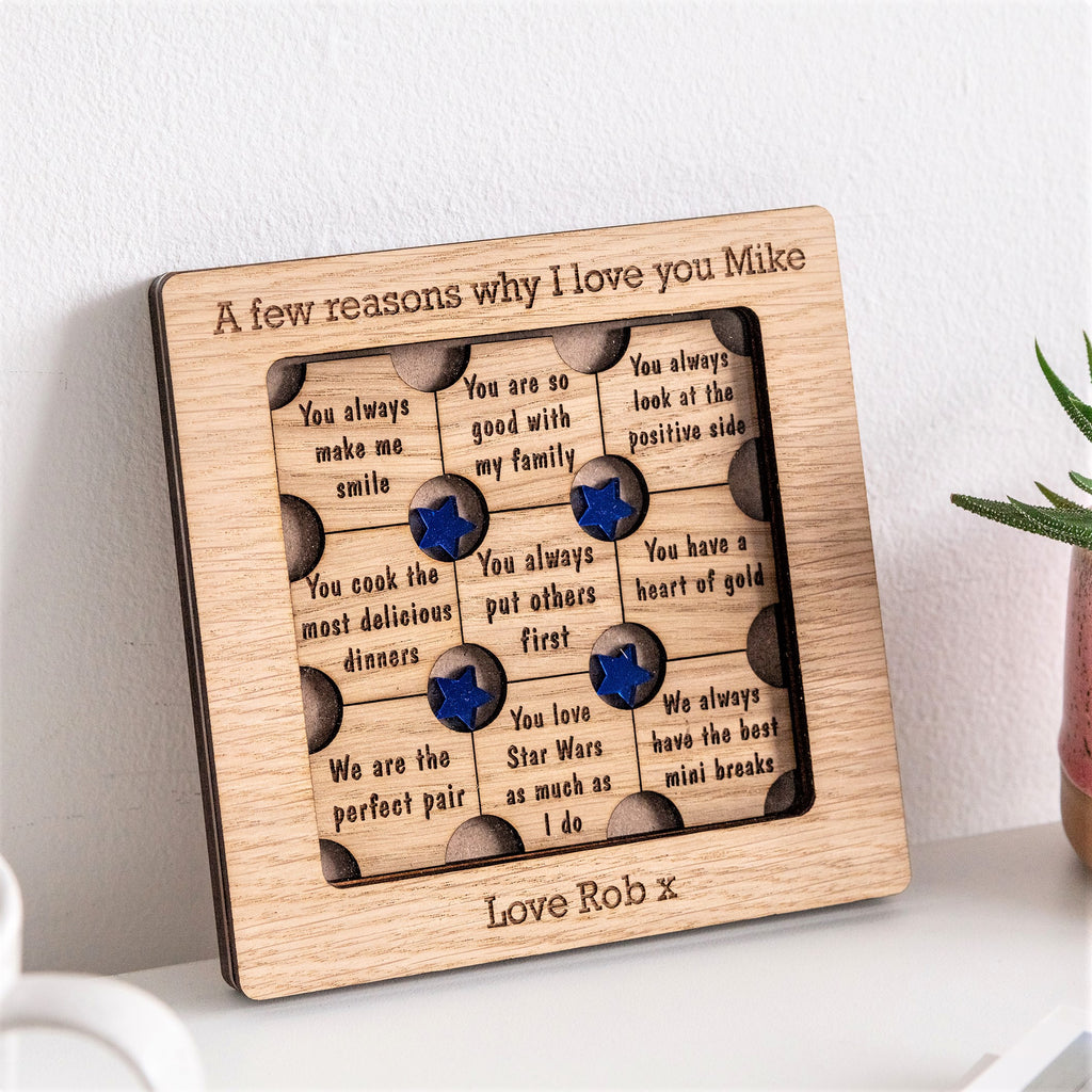 'Reasons Why I Love You' Personalised Frame - Different colour options