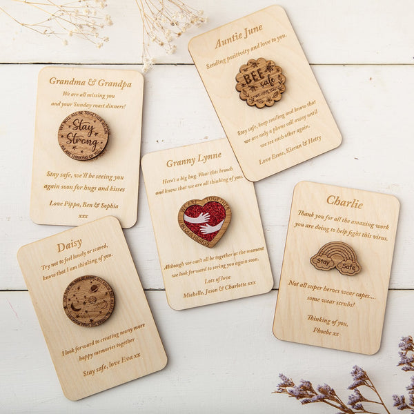 Personalised Isolation Gift - Choose from Pocket Token or Brooch