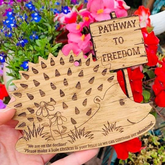 Hedgehog Highway 'Pathway to Freedom' Sign