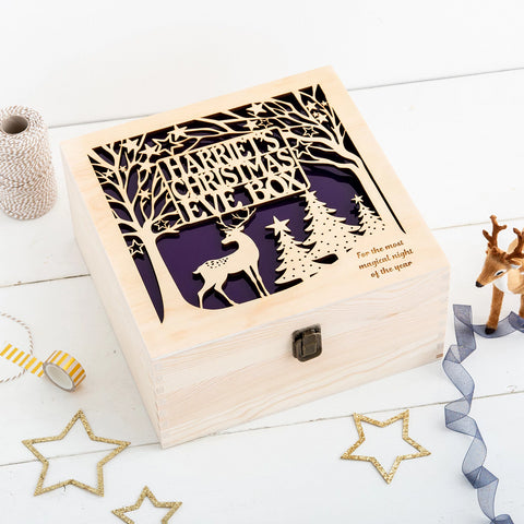 Christmas Eve Box - Personalised Woodland Wonderland - Many Colours