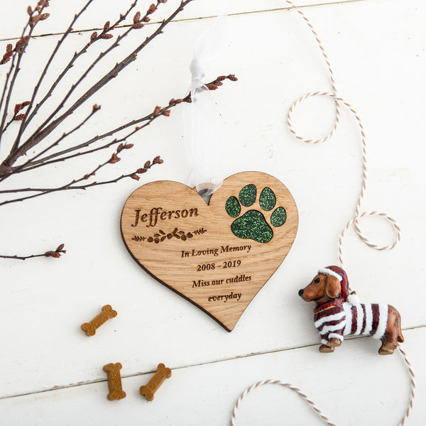 Personalised Pet Christmas Tree Decoration - The Bespoke Workshop