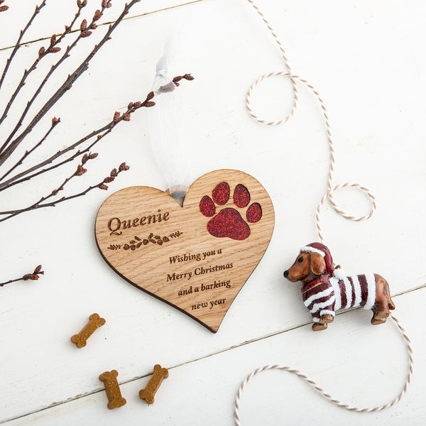 Personalised Heart Pet Decoration - The Bespoke Workshop
