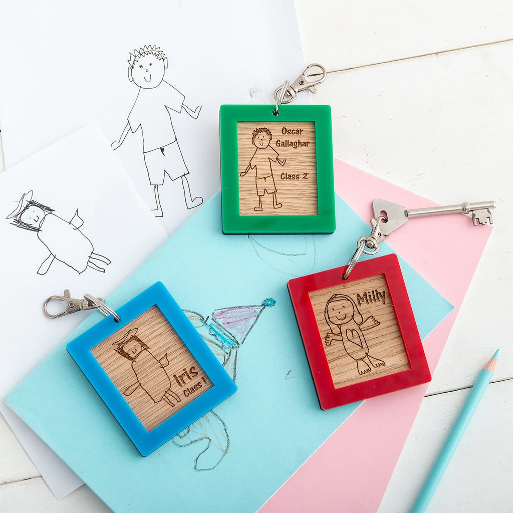 Personalised 'Self Portrait' School Bag Tags