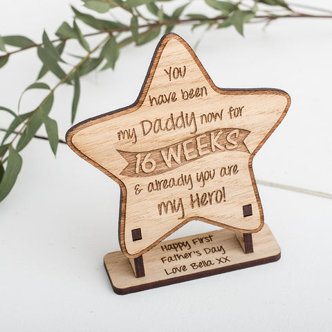 First Father's Day Star, Personalised Plaque