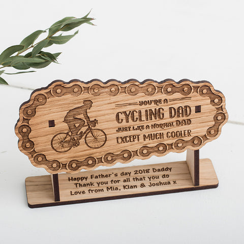 Cycling Freestanding Plaque - engraved with your own message