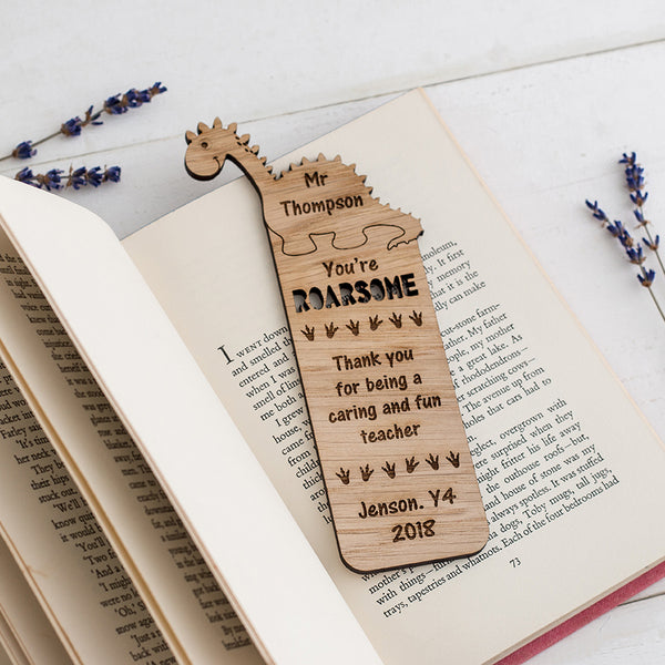 Dinosaur Bookmark - The Bespoke Workshop