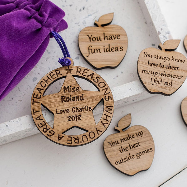 Bag of 10 Apples - Personalised Teacher Gift