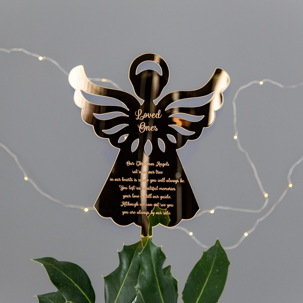 Gold Angel Christmas Tree Topper - The Bespoke Workshop