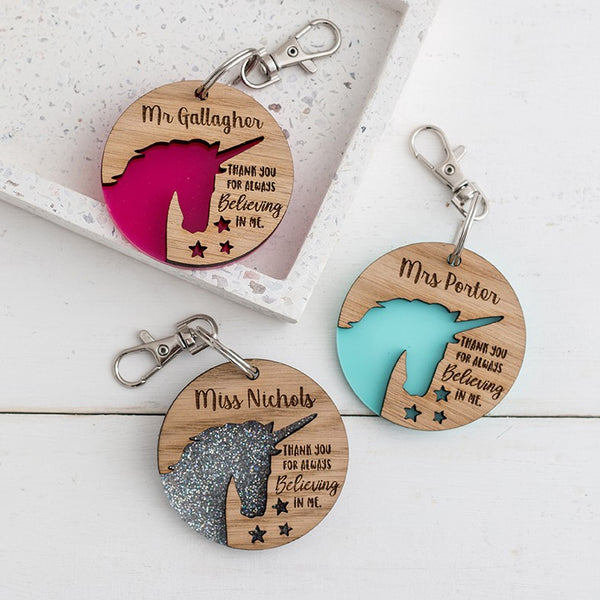 Unicorn Keyring - Teacher Appreciation Gift