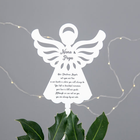 White Angel Christmas Tree Topper - The Bespoke Workshop
