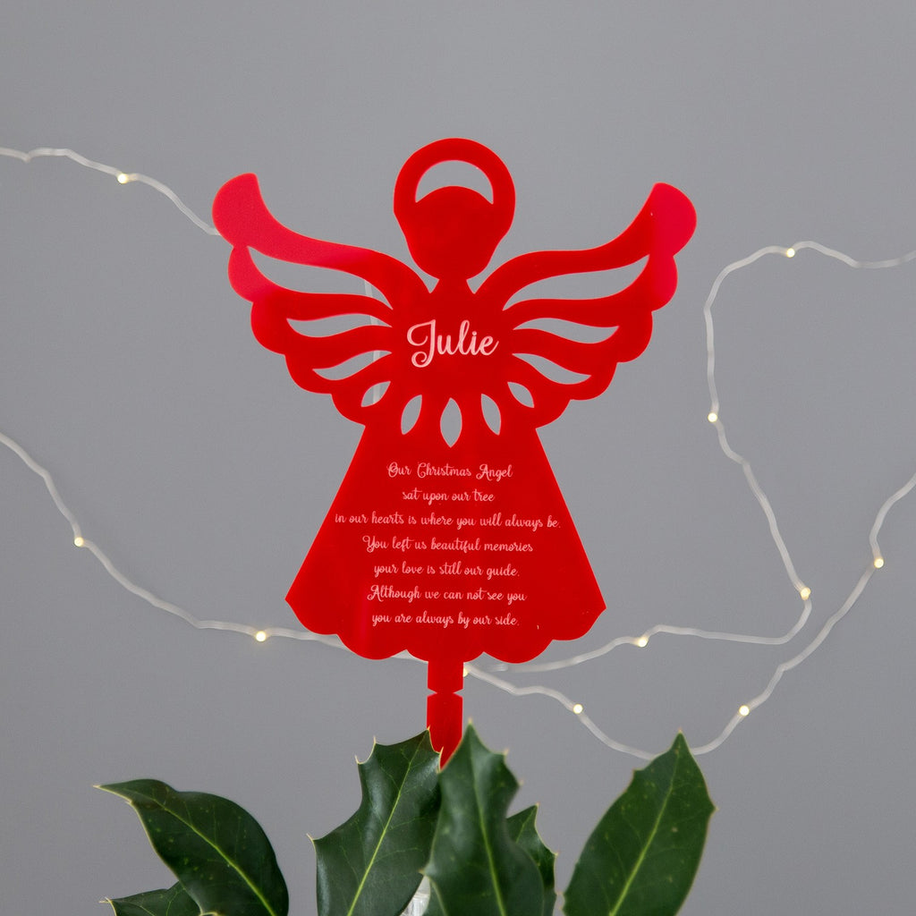 Red Angel Christmas Tree Topper - The Bespoke Workshop