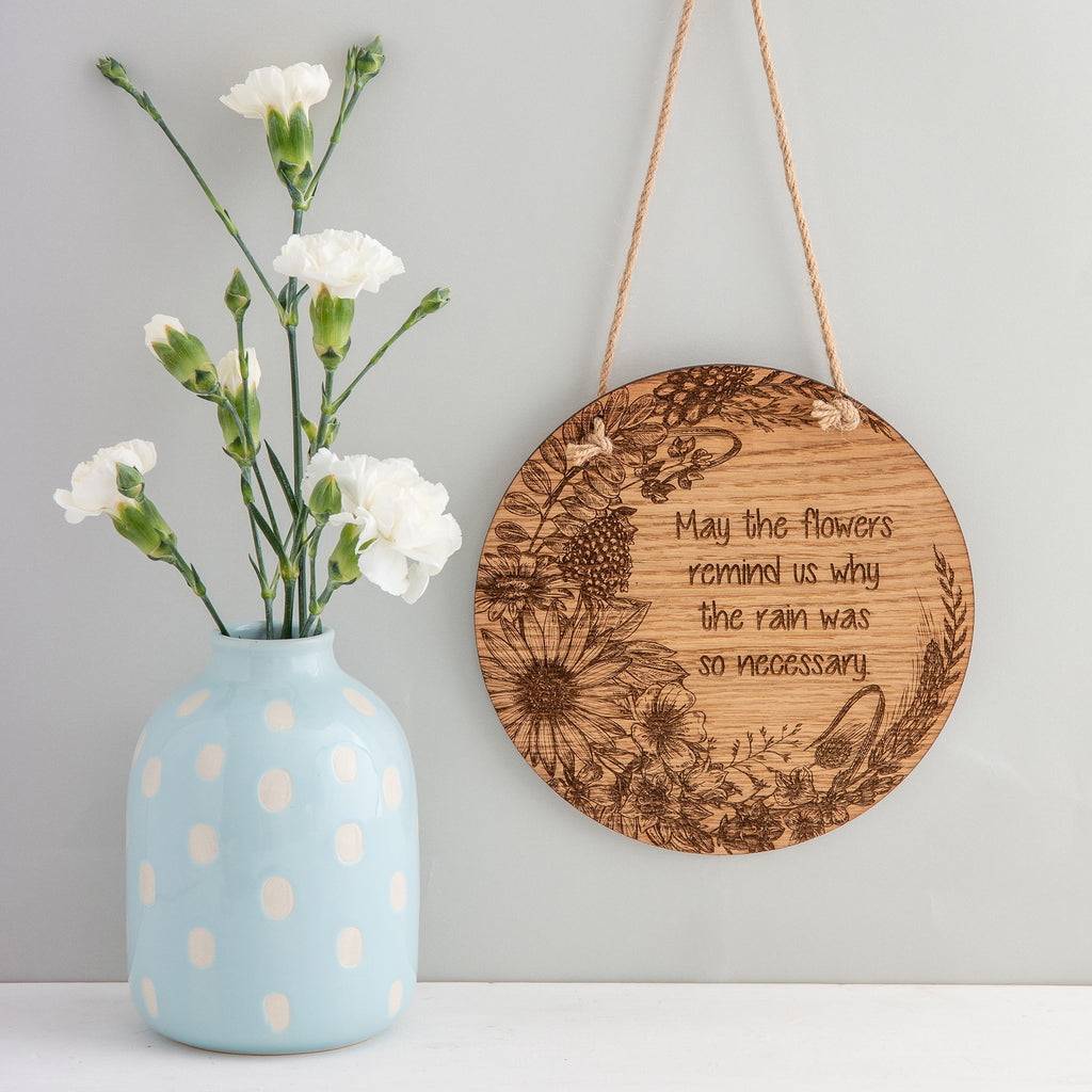 Round Floral Wall Plaque - The Bespoke Workshop
