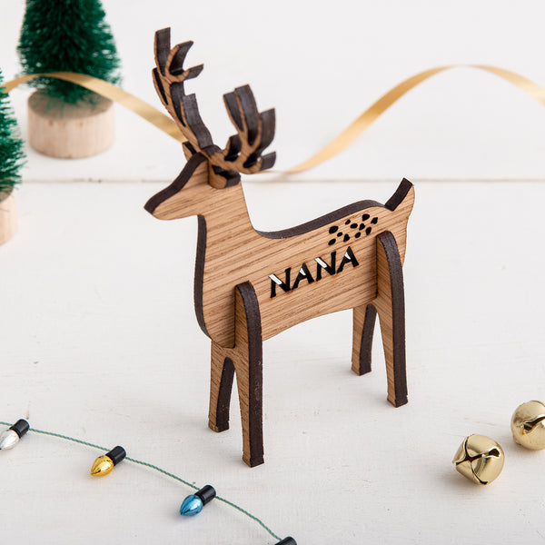 3D Personalised Reindeer Place Settings