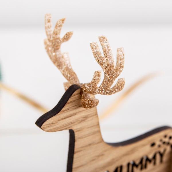 5 x Glitter Antlers for our Personalised Reindeer Place Settings