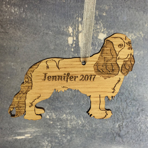 Personalised Dog Breed Wooden Hanging Decorations
