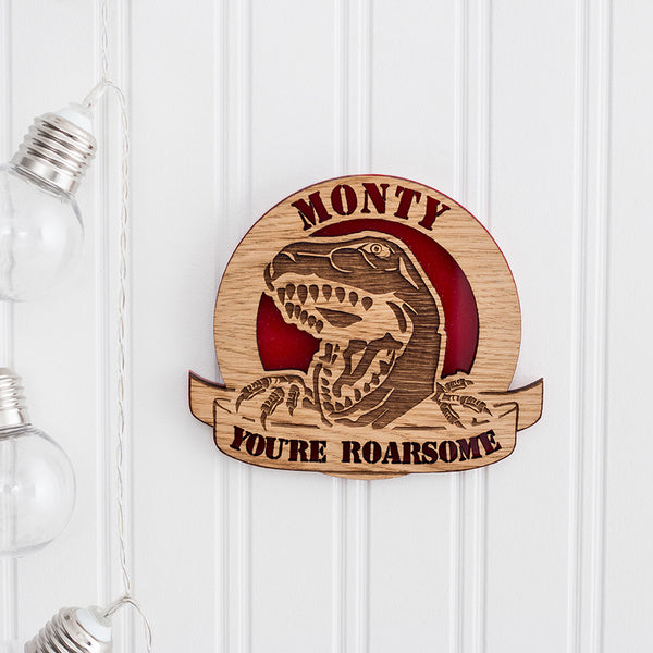 Dinosaur Wall Plaques - The Bespoke Workshop